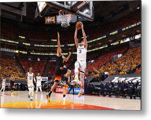 Playoffs Metal Print featuring the photograph 2021 NBA Playoffs - Memphis Grizzlies v Utah Jazz by Joe Murphy