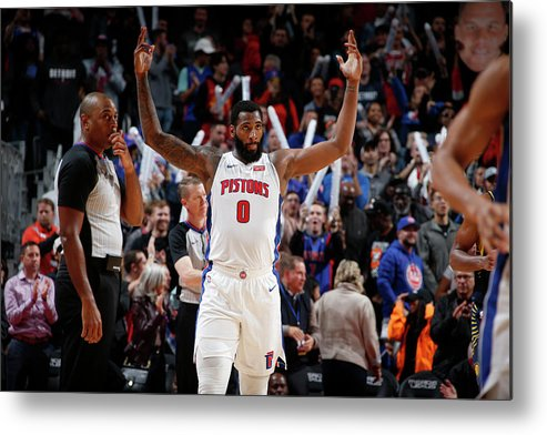 Nba Pro Basketball Metal Print featuring the photograph Andre Drummond by Brian Sevald