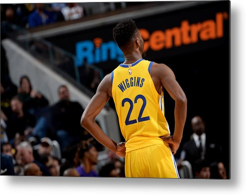 San Francisco Metal Print featuring the photograph Andrew Wiggins by Noah Graham