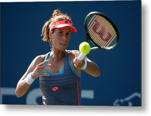 Mona Barthel Metal Print featuring the photograph Bank of the West Classic - Day 5 by Ezra Shaw