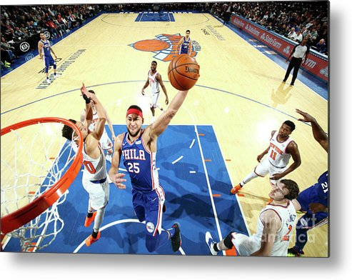 Nba Pro Basketball Metal Print featuring the photograph Ben Simmons by Nathaniel S. Butler