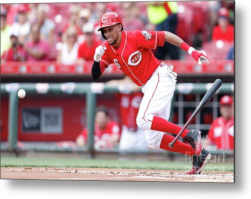 Great American Ball Park Metal Print featuring the photograph Billy Hamilton by Joe Robbins