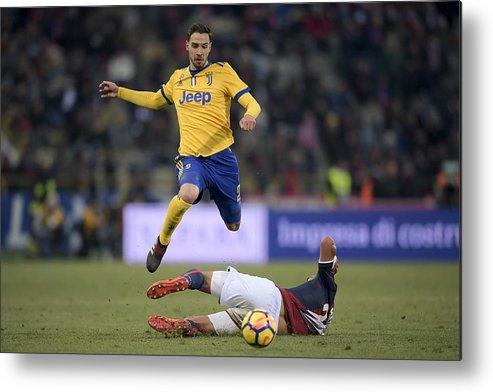 Team Sport Metal Print featuring the photograph Bologna FC v Juventus - Serie A by Daniele Badolato - Juventus FC