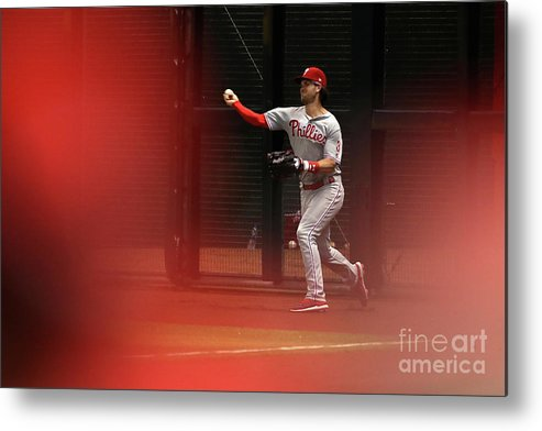 People Metal Print featuring the photograph Bryce Harper by Christian Petersen