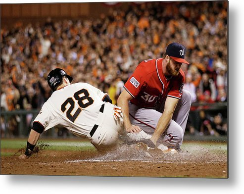 San Francisco Metal Print featuring the photograph Buster Posey by Ezra Shaw