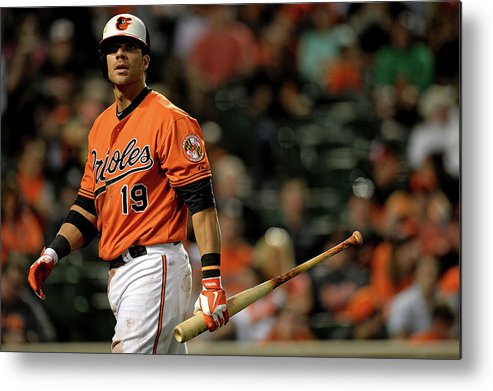 American League Baseball Metal Print featuring the photograph Chris Davis by Patrick Smith