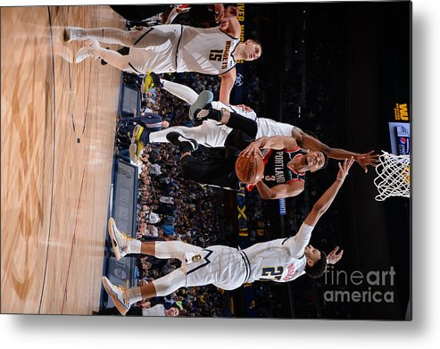 Playoffs Metal Print featuring the photograph C.j. Mccollum by Bart Young