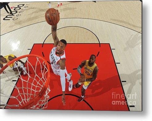 Nba Pro Basketball Metal Print featuring the photograph Damian Lillard by Andrew D. Bernstein