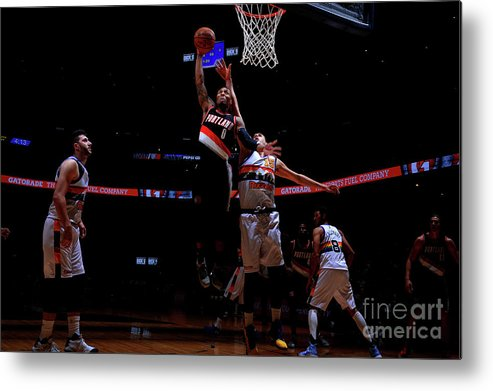 Nba Pro Basketball Metal Print featuring the photograph Damian Lillard by Bart Young