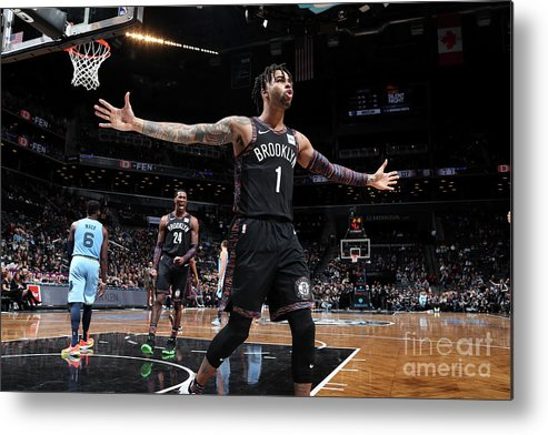Nba Pro Basketball Metal Print featuring the photograph D'angelo Russell by Nathaniel S. Butler