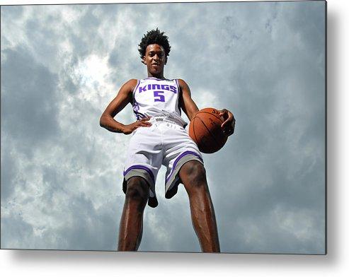 Nba Pro Basketball Metal Print featuring the photograph De'aaron Fox by Jesse D. Garrabrant