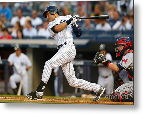 People Metal Print featuring the photograph Derek Jeter by Mike Stobe