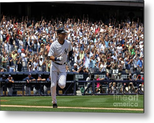 People Metal Print featuring the photograph Derek Jeter by Nick Laham