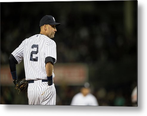People Metal Print featuring the photograph Derek Jeter by Rob Tringali