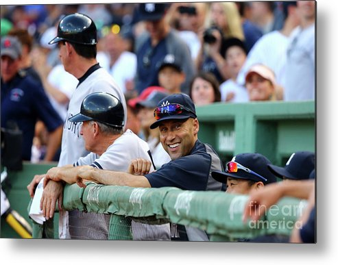 American League Baseball Metal Print featuring the photograph Derek Parks by Al Bello