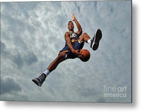 Nba Pro Basketball Metal Print featuring the photograph Donovan Mitchell by Jesse D. Garrabrant