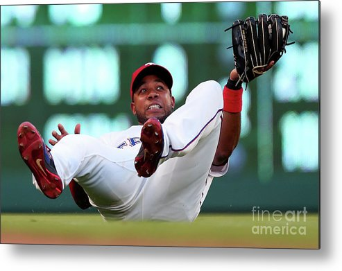 People Metal Print featuring the photograph Elvis Andrus by Tom Pennington