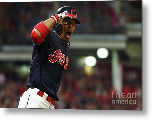Game Two Metal Print featuring the photograph Francisco Lindor by Gregory Shamus