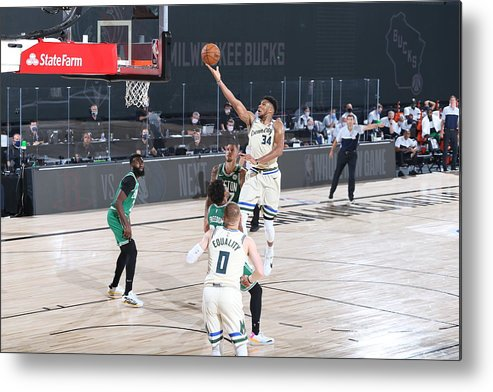 Nba Pro Basketball Metal Print featuring the photograph Giannis Antetokounmpo by David Sherman