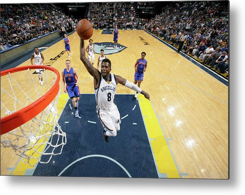 Nba Pro Basketball Metal Print featuring the photograph James Ennis by Joe Murphy