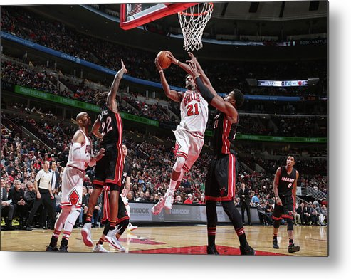Nba Pro Basketball Metal Print featuring the photograph Jimmy Butler by Nathaniel S. Butler