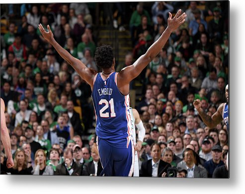 Nba Pro Basketball Metal Print featuring the photograph Joel Embiid by Brian Babineau