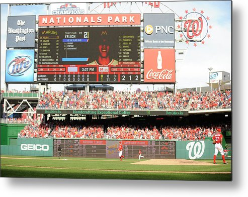 Ball Metal Print featuring the photograph Jordan Zimmermann by Mitchell Layton