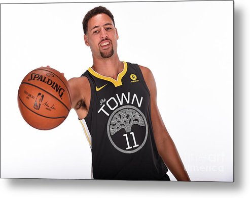 Media Day Metal Print featuring the photograph Klay Thompson by Noah Graham