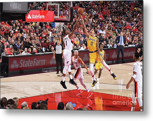 Nba Pro Basketball Metal Print featuring the photograph Kyle Kuzma by Andrew D. Bernstein