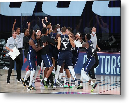 Playoffs Metal Print featuring the photograph LA Clippers v Dallas Mavericks - Game Four by Joe Murphy