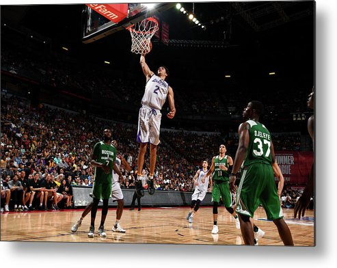Nba Pro Basketball Metal Print featuring the photograph Lonzo Ball by Garrett Ellwood