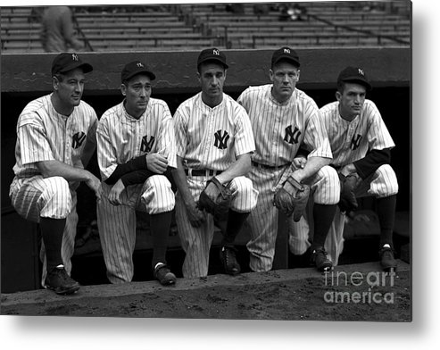 People Metal Print featuring the photograph Lou Gehrig by Kidwiler Collection