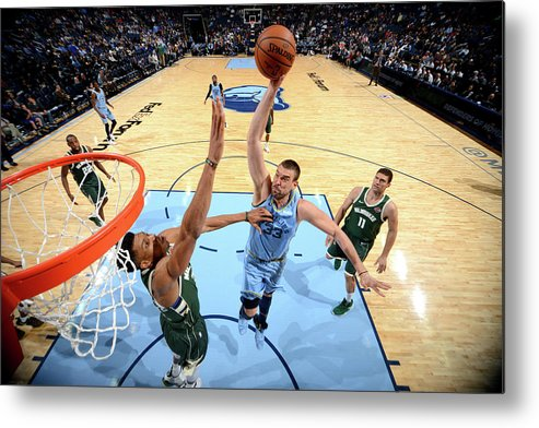 Nba Pro Basketball Metal Print featuring the photograph Marc Gasol by Jesse D. Garrabrant