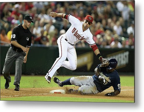 Ninth Inning Metal Print featuring the photograph Martin Prado by Christian Petersen