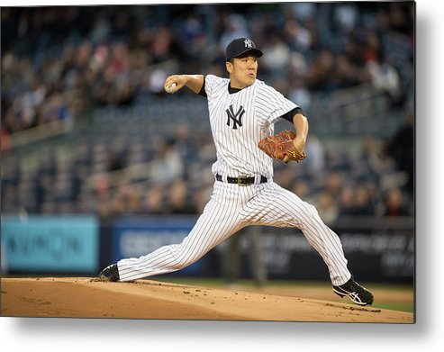 American League Baseball Metal Print featuring the photograph Masahiro Tanaka by Rob Tringali