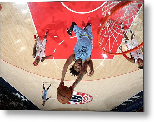 Nba Pro Basketball Metal Print featuring the photograph Memphis Grizzlies v Washington Wizards by Stephen Gosling