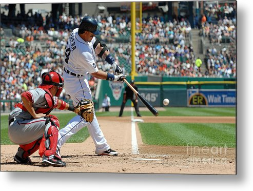 American League Baseball Metal Print featuring the photograph Miguel Cabrera by Mark Cunningham