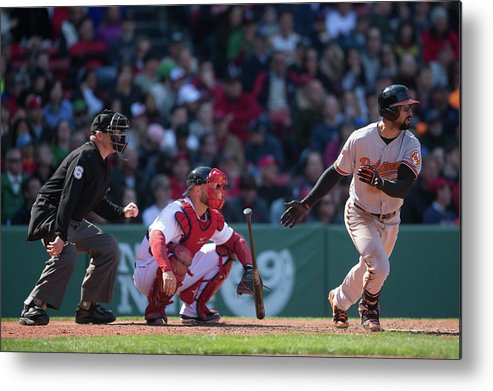 East Metal Print featuring the photograph Nick Markakis by Rob Tringali
