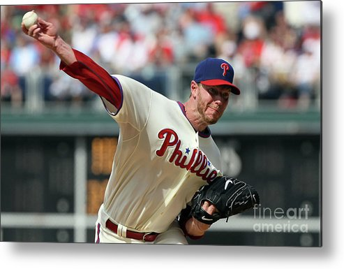 Citizens Bank Park Metal Print featuring the photograph Roy Halladay by Jim Mcisaac
