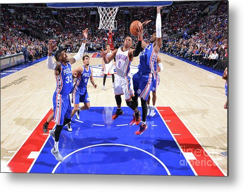 Nba Pro Basketball Metal Print featuring the photograph Russell Westbrook by Jesse D. Garrabrant
