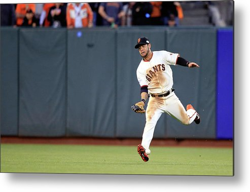 San Francisco Metal Print featuring the photograph Salvador Perez by Jamie Squire