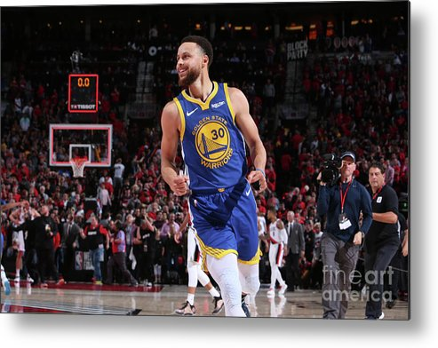 Nba Pro Basketball Metal Print featuring the photograph Stephen Curry by Sam Forencich