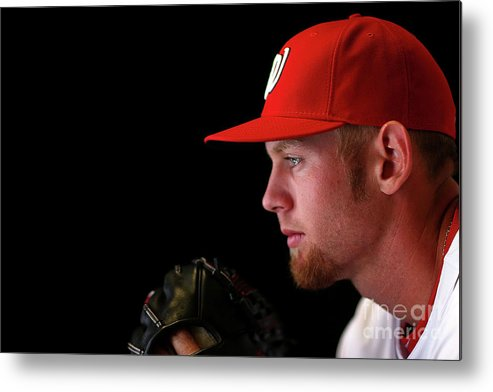 Media Day Metal Print featuring the photograph Stephen Strasburg by Mike Ehrmann