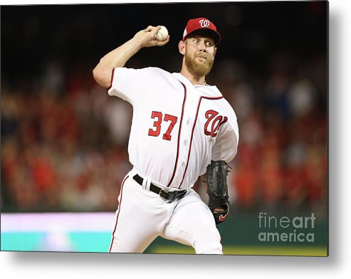 Three Quarter Length Metal Print featuring the photograph Stephen Strasburg by Patrick Smith