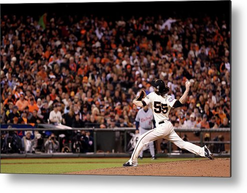 San Francisco Metal Print featuring the photograph Tim Lincecum by Christian Petersen