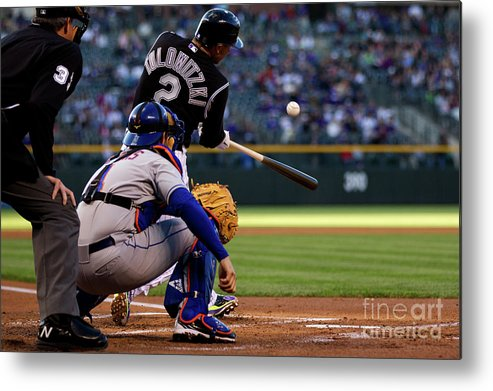 People Metal Print featuring the photograph Troy Tulowitzki by Justin Edmonds