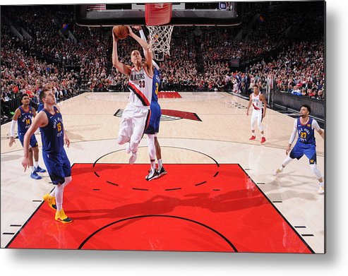 Nba Pro Basketball Metal Print featuring the photograph Zach Collins by Sam Forencich