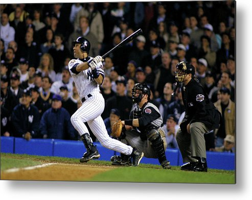 Sport Metal Print featuring the photograph Derek Jeter by Al Bello