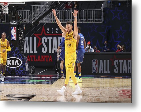 Atlanta Metal Print featuring the photograph Stephen Curry by Nathaniel S. Butler