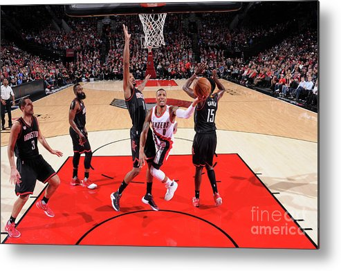 Nba Pro Basketball Metal Print featuring the photograph Damian Lillard by Sam Forencich